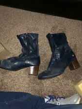 Vintage Grasshoppers women's Man Made Materials Navy boots, 8.5