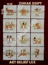 1 X RELIEF Stier Tierkreiszeichen Geschenk stuck gips Ägyptische Agypten zodiac