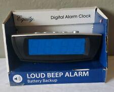 "New listing 75903 Equity by La Crosse AC Powered 0.9"" Blue LED Display Digital Alarm Clock"