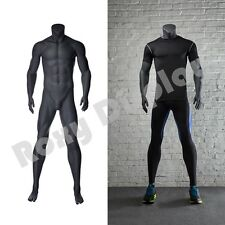 Male Fiberglass Headless Athletic style Mannequin Dress Form Display #MZ-NI-2