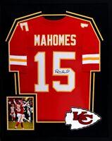 Patrick Mahomes Signed Autographed Framed Kansas City Chiefs Jersey JSA Witness