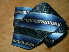 NEW WT $39.99 BRAND Q TIE & POCKET SQUARE MICROFIBER BLUE GRAY PAISLEYS #105