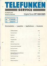 Telefunken Service-schéma-Site Digital périphérique Tuner DT 1500 Évaluations détaillées du vendeur b1327