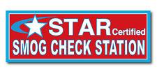SMOG CHECK - Star Certified 3'x8'  Vinyl Banner Sign