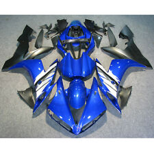 Blue BLack Injection Mold Plastic Fairing Set For YAMAHA YZF R1 2004-2006 04-06