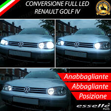 CONVERSIONE FARI FULL LED VW GOLF IV 4 6000K LED CANBUS XENON ALTA LUMINOSITA'