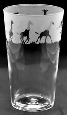 More details for giraffe frieze boxed 57cl conical 1 pint glass