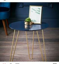 16x12 inches iron & wood stool blue colour and gold