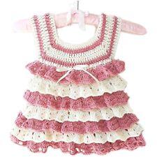 Abito neonata tg 3-6 mesi in lana rouches artigianale mod. Bambola