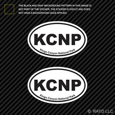 Pair of Kings Canyon National Park Oval Sticker Decal Euro KCNP
