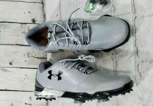 Under Armour UA Grey Match Play Golf Cleats Shoes 3019893-106 MENS SIZE 7