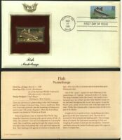 US FDC 22K Gold Stamp - 1986 Fish Muskellunge