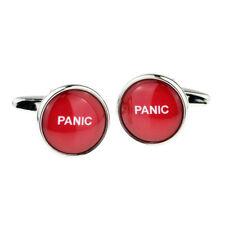 Panic Button Design Cufflinks in a Cufflink Box - X2BOC082
