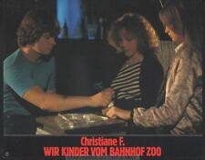 NATJA BRUNCKHORST - CHRISTIANE F WIR KINDER VOM BAHNHOF ZOO  * SWISS LOBBY CARD