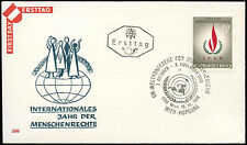 Austria 1968 Human Rights Year FDC First Day Cover #C17960
