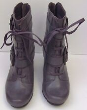 Womens Clarks Softwear Lyndee Concert Grey Ankle Boots - Size UK 4 D EUR 37