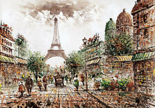 1000Piece Jigsaw Puzzle Paris and Eiffle Tower Hobby Gift Home Decoration DIY
