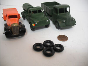 NEW TIRES! LARGE DINKY17MM O/D SMOOTH BLACK TIRES.SET OF 4