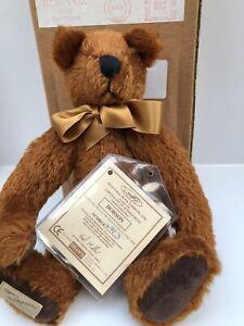 "Deans Rag Book Jointed Teddy Bear 'HOBSON'  Membership Bear For 1999 11"""