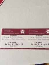Karten für den Theaterkahn in Dresden am Samstag, den 30. September 2017