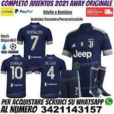 Maglia Completo Juventus Blu Away 2020 2021 Ronaldo Dybala Personalizzata Nuova