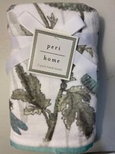 NWT Peri Home Butterfly Blue Gray White Green Hand Towels Set Of 2 Vintage Print