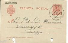 Entero Postal Edifil # 49 (o) Logroño a Zaragoza