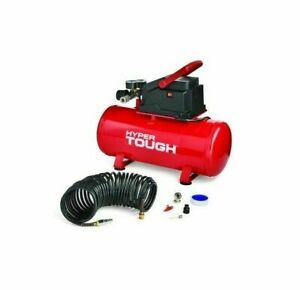 3 Gallon Air Compressor Carry Handle Red Portable Oil Free Tank Garage Car Tires