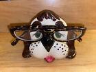 Ceramic Dog Eyeglass Glasses Holder Stand Rest