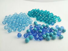 Swarovski 5000 SALE Blue Mix 6mm Rounds Lot 148 beads (barg61)