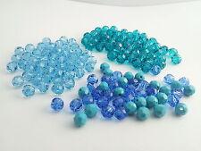 Swarovski 5000 vente bleu mix 6mm rounds lot 148 perles (barg61)