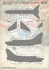 Imprimé échelle 1/72 US Navy A-7 Corsair technique Stencils # 72170