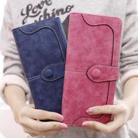 Women PU Leather Purse Ladies Clutch Coin Wallet Phone Card Holder Bag Handbag