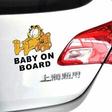Fun & cute car decal / sticker of Garfield Baby In Car/ Baby on Board