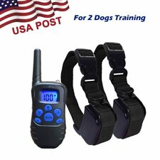 Electric LCD Waterproof 2 Pet Dog Shock Training Collar With Remote Rechargeable