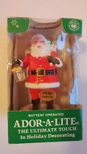 iAdor-a-lite Santa Lighted Lantern w/Box Battery Operated Christmas Vintage RARE