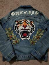 Pre owned Gucci denim tiger Jacket size 46