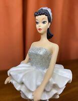 Barbie 1961 Ballerina Danbury Mint Figurine w/ Box - 1993 Mattel - Silver Dress