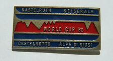 Insigne Émaillé Coupe du monde de SKI Castelrotto Italie 1980 Broche FIS