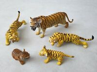 "AAA Rubber Animal Figurine Bundle of Tiger Models 7"" Long"