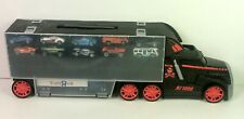 black 40 car storage truck w/10 fast lane die cast vehicles & toysRus truck