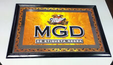 Miller beer sign bar signs 1 mirror Genuine Draft Mgd glass wall display Yw7