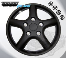 """15"""" Inch Matte Black Hubcap Wheel Cover Rim Covers 4pc Style Code 028B 15 Inches"""