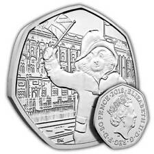 2 x 50p Coin - Paddington Bear - Fifty Pence - 2018 New Uncirculated