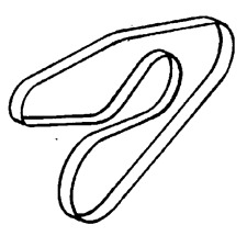 VAUXHALL V RIBBED BELT - GENUINE NEW - 24413294