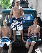 Urijah Faber Joseph Benavidez Chad Mendes Signed UFC 8x10 Photo PSA/DNA COA WEC