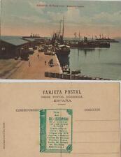 Tarjeta Postal. Alicante. El Puerto nuevo – Acorazados Ingleses.