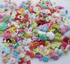 100pcs Lot Plastic Buttons Backhole Scrapbooking Sewing DIY Craft Appliques F648