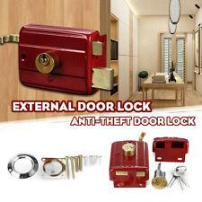 YALE FRONT DOOR LOCK DEADBOLT NIGHTLATCH RIM CYLINDER LATCH WITH 3 KEYS NEW UK