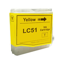 1 YELLOW New LC51 Ink Cartridge for Brother MFC-230C MFC-235C MFC-240C MFC-260C